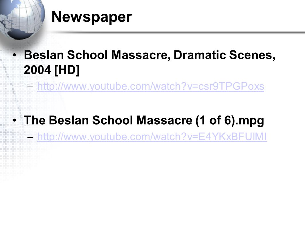 Newspaper Beslan School Massacre, Dramatic Scenes, 2004 [HD]